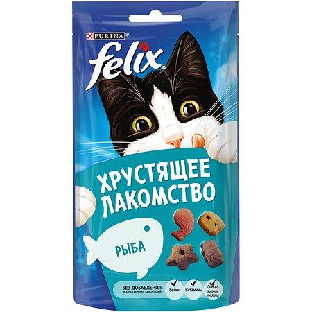 Лакомство для кошек Felix Хрустящее с рыбой 60г