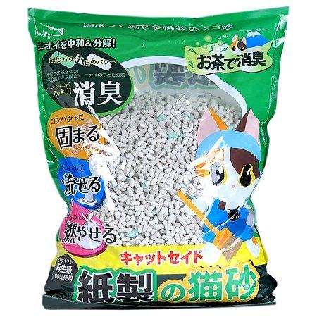 Наполнитель для кошек Catseido бумажный с экстрактом зеленого чая 5л
