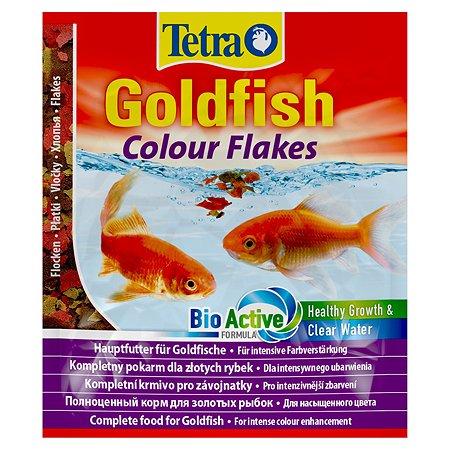 Корм для рыб Tetra Goldfish Colour золотых для улучшения окраса Хлопья 12г