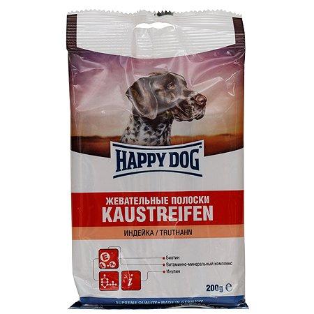 Лакомство для собак Happy Dog Полоски индейка 200г
