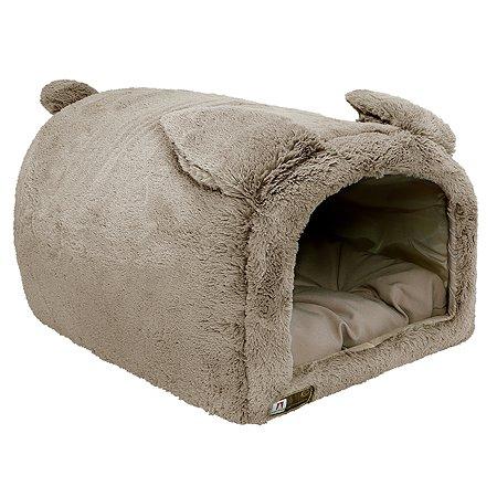 Домик для собак и кошек Зоогурман TeddyBear Темно-бежевый