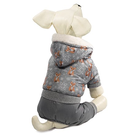 Комбинезон для собак Triol Лисички зимний S Серый