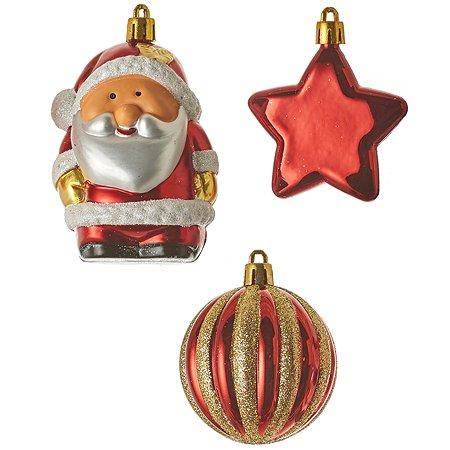 Набор House of Seasons Санта звездочка шар 4 см 9 см 1045808