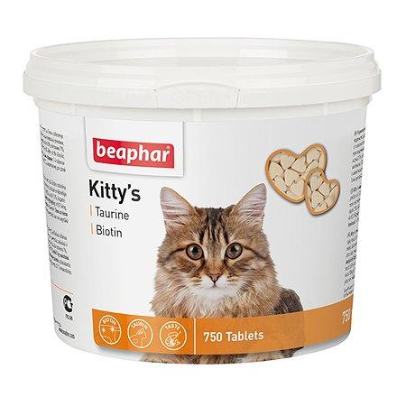 Витамины для кошек Beaphar Kittys Biotin таурин-биотин при недостатке витаминов 750таблеток