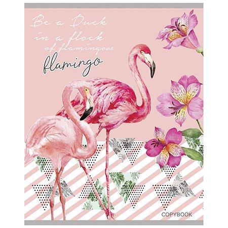 Тетрадь Prof Press Фламинго и цветы А5 Клетка 48л в ассортименте 48-5653
