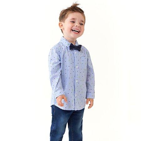 Рубашка Baby Gо голубая