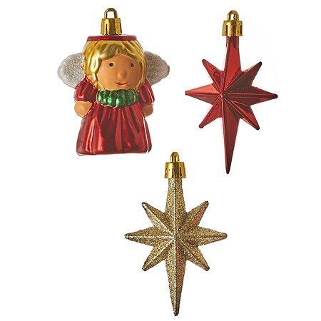 Набор House of Seasons Ангел 2 звездочки и шар 7 см 1045812