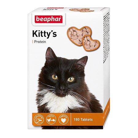 Витамины для кошек Beaphar Kittys Protein для укрепления здоровья и иммунитета 180таблеток