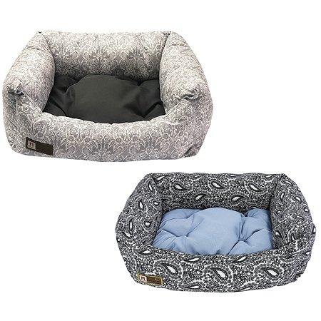 Лежак для собак и кошек Зоогурман Саваж Серо-голубой-Темно-серый в ассортименте