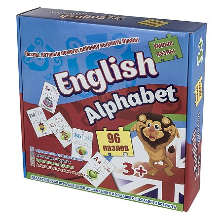 Пазлы STRATEG English alfabet 4901