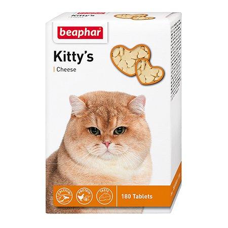 Витамины для кошек Beaphar Kittys Cheese с сыром 180таблеток