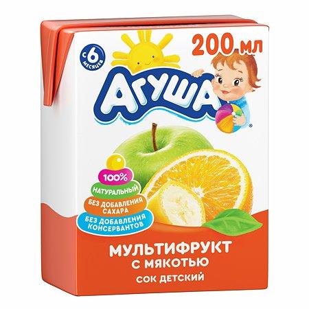 Сок Агуша мультифрукт 200мл с 6месяцев