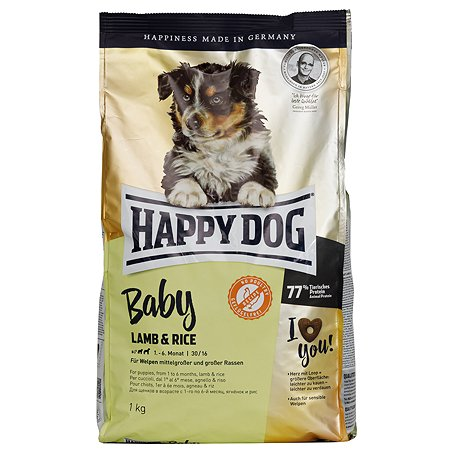 Корм для собак Happy Dog Supreme Baby ягненок-рис 1кг