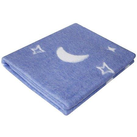 Одеяло байковое Ермошка Ночка Синее 57-4 ЕТОЖ