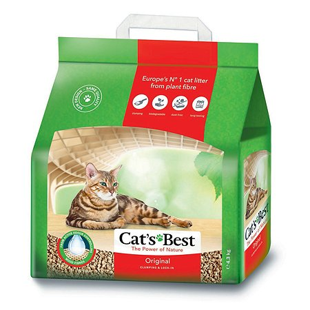 Наполнитель для кошек Cats Best Original древесный комкующийся 4.3 кг