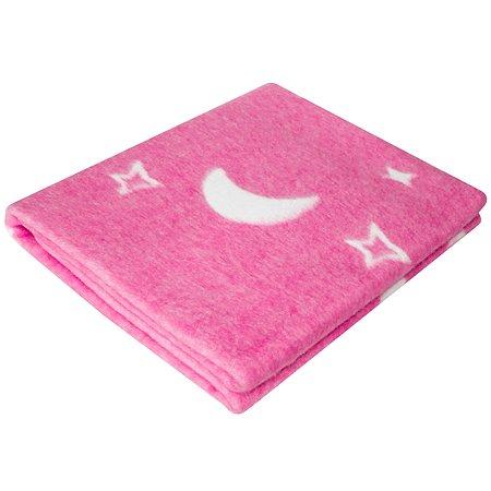 Одеяло байковое Ермошка Ночка Розовое 57-4 ЕТОЖ