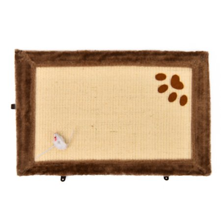 Когтеточка для кошек Beeztees Коврик с мышкой Бежевый