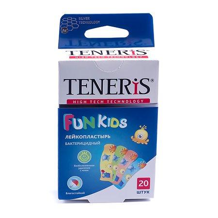 Лейкопластырь TENERIS Fun Kids бактерицидный с рисунками 20шт