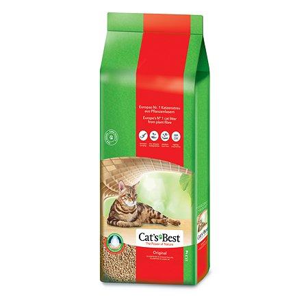 Наполнитель для кошек Cats Best Original древесный комкующийся 17.2 кг