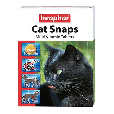 Витамины для кошек Beaphar Cat Snaps для шерсти и работы сердца 75таблеток