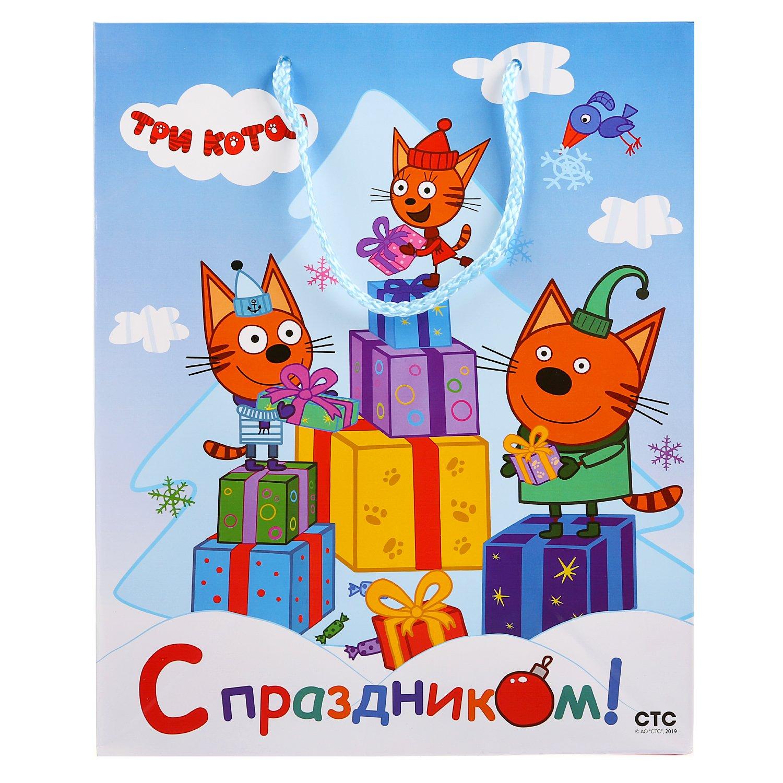 14+ Раскраска Три Кота Новый Год
