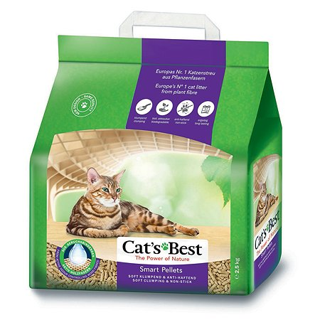Наполнитель для кошек Cats Best Smart pellets древесный комкующийся 2.5 кг