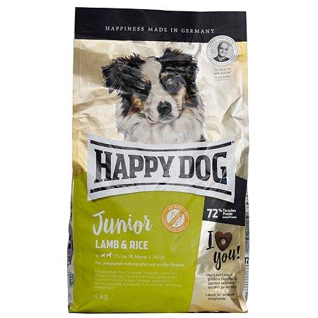 Корм для щенков Happy Dog Supreme ягненок-рис 4кг