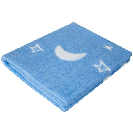 Одеяло байковое Ермошка Ночка Бирюзовое 57-4 ЕТОЖ