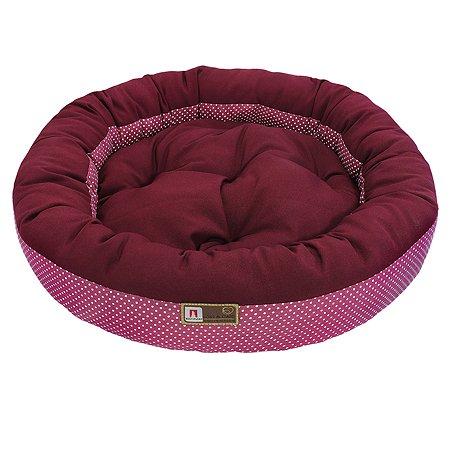 Лежак для собак и кошек Зоогурман Милан Бордовый-Розовый