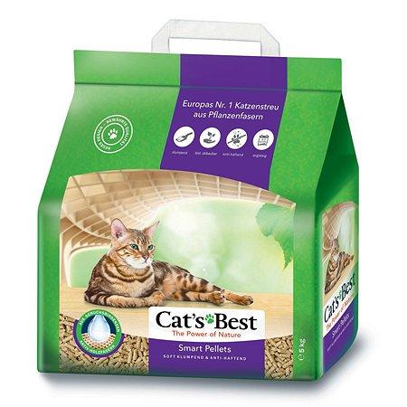 Наполнитель для кошек Cats Best Smart pellets древесный комкующийся 5 кг
