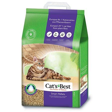 Наполнитель для кошек Cats Best Smart pellets древесный комкующийся 10 кг