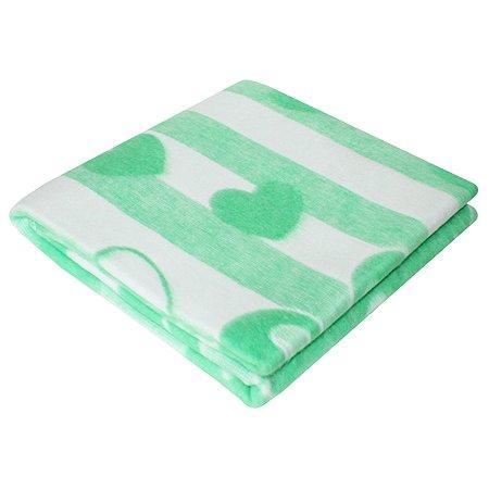 Одеяло байковое Ермошка Зайкин сон Зеленое 57-4 ЕТОЖ