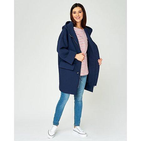 Пальто для беременных Futurino Mama тёмно-синее
