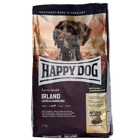 Корм для собак Happy Dog Supreme Sensible Ирландия лосось-кролик 1кг