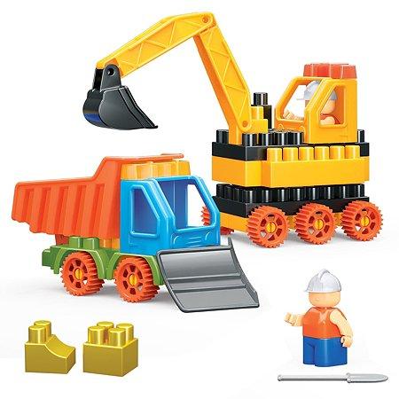 Конструктор Bauer Building Kinetic Бульдозер и грузовик 754