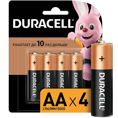 Батарейки Duracell Basic АА 4шт 81550791