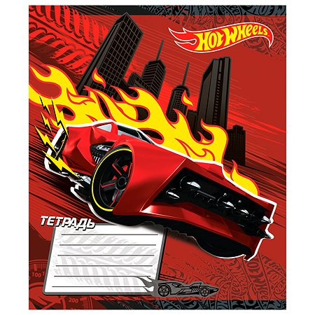 Тетрадь Hot Wheels 12л линейка