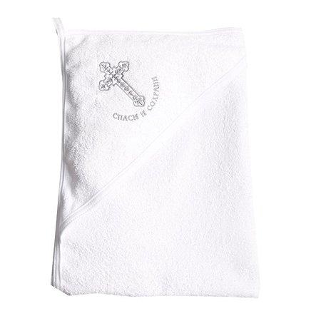Полотенце-уголок Эдельвейс с вышивкой 80х90 махра