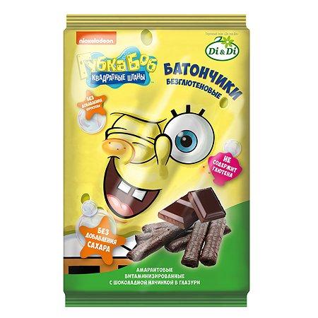 Батончики Sponge Bob амарантовые с шоколадной начинкой глазированные 110г