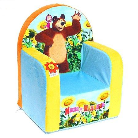 Кресло детское Смолтойс Маша и Медведь с музыкальное