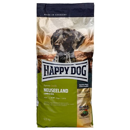 Корм для собак Happy Dog Supreme Sensible Новая Зеландия ягненок-рис 12.5кг