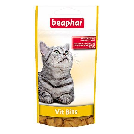 Подушечки для кошек Beaphar Vit Bits с мультивитаминной пастой 35г