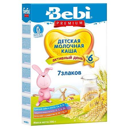 Каша Колинска Bebi Premium молочная7 злаков 200г с 6месяцев