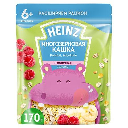 Каша Heinz Лакомая многозерновая банан-малина 170г с 6месяцев