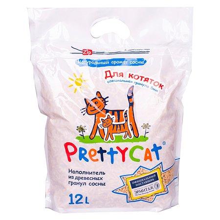 Наполнитель для котят Pretty Cat Wood Granules древесный 12л