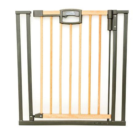 Ворота безопасности Geuther Easylock Wood Натуральный/Серебро