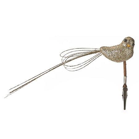 Игрушка елочная House of Seasons Птица 11 см Шампань 1049716