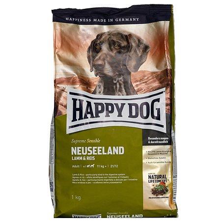 Корм для собак Happy Dog Supreme Sensible Новая Зеландия ягненок-рис 1кг