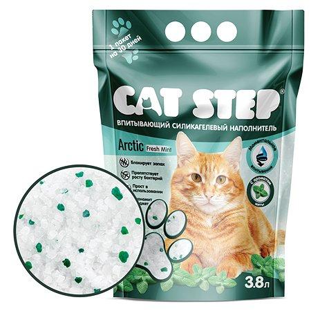 Наполнитель для кошачьего туалета Cat Step Crystal Fresh Mint впитывающий силикагелевый 3.8л
