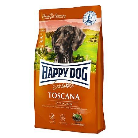 Корм для собак Happy Dog Supreme Sensible Тоскана утка-лосось 12.5кг